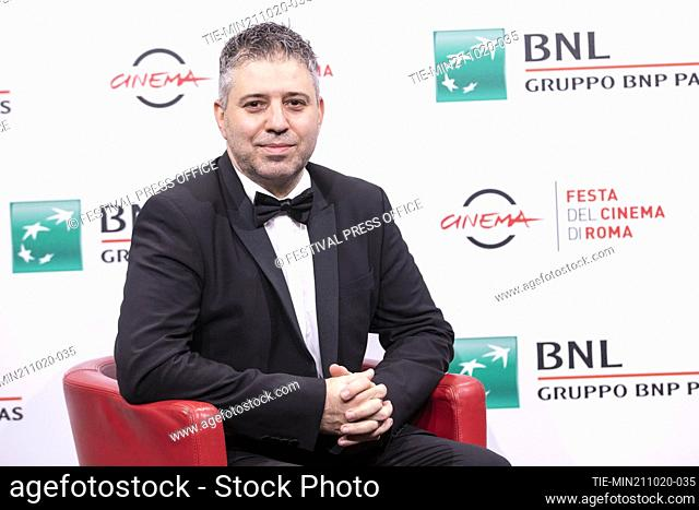 Evgeny Afineevsky during the photocall of movie' Francesco' at the 15th Rome Film Festival, Rome, ITALY-21-10.-2020