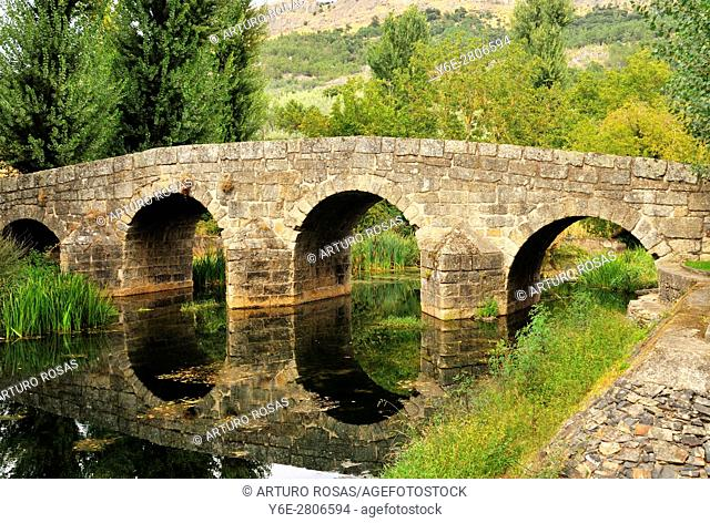 The roman bridge over the Sever River in Portagem, Alentejo, Portugal