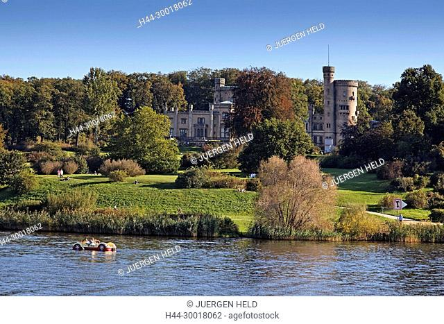 Germany, Brandenburg, Potsdam, Babelsberg Park, Babelsberg Castlel, Havel river, Little Castle, UNESCO