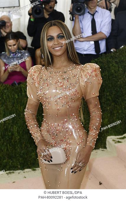 Beyonce Knowles attends 'Manus x Machina: Fashion In An Age Of Technology' Costume Institute Gala at Metropolitan Museum of Art in New York City, USA