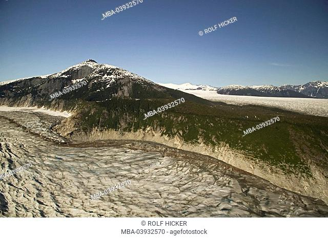 usa, Alaska, Inside passage, Juneau, Tongass National Forest, Juneau Icefield, North America, mountains, mountains, landscape, ice-landscape, glacier-landscape