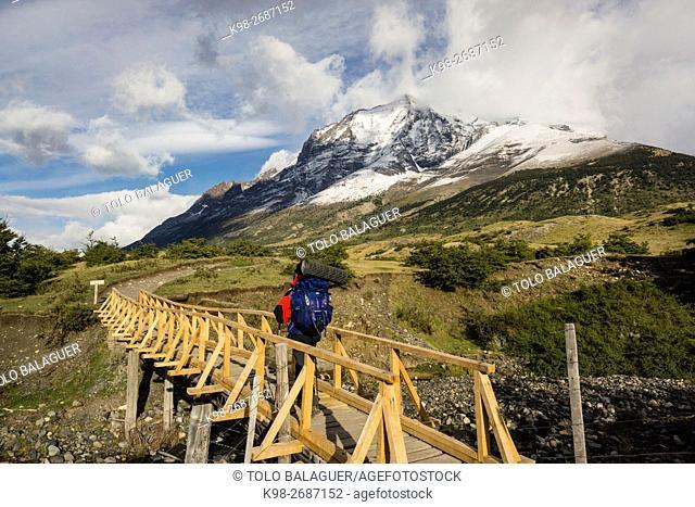 trekking W, Parque nacional Torres del Paine,Sistema Nacional de Áreas Silvestres Protegidas del Estado de Chile. Patagonia, República de Chile,América del Sur