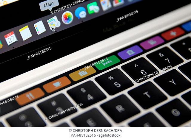 Map symbols for the Apple Maps app can be seen on a MacBook Pro in Cupertino, USA, 27 October 2016. Apple presented a series of models of its notebooks: On the...