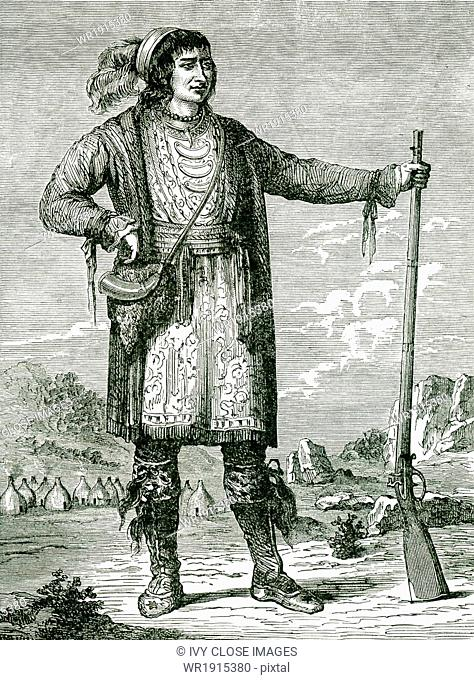 Osceola (1804-1838), who was also known as Billy Powell, became a leader of the Seminoles in Florida. Osceola was of Creek, Scots-Irish, and English heritage