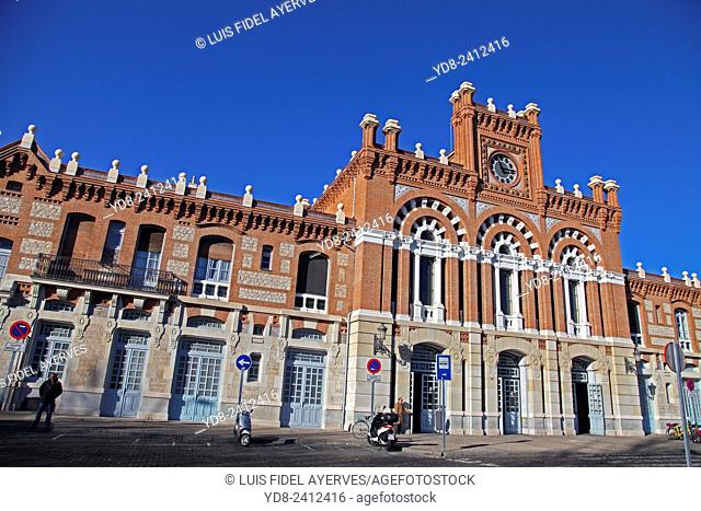 Facade of the railway station Aranjuez, Madrid, Spain, Europe