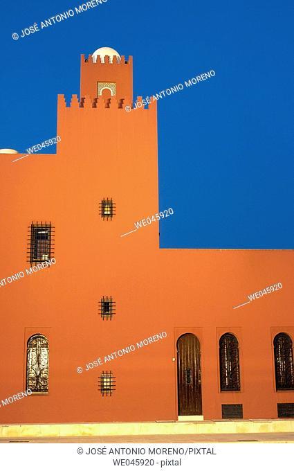 Bil-Bil castle built in neo-Arab style in 1934, Benalmádena. Costa del Sol, Málaga province. Andalusia, Spain