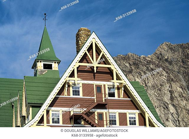 Prince of Wales Hotel in Waterton Lakes National Park, southern Alberta, Canada