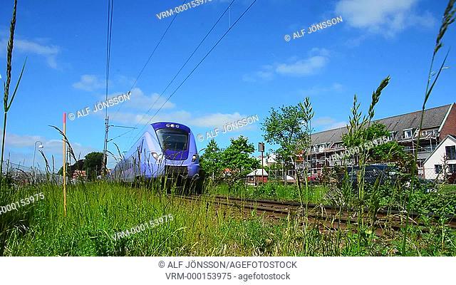 Incoming regional train