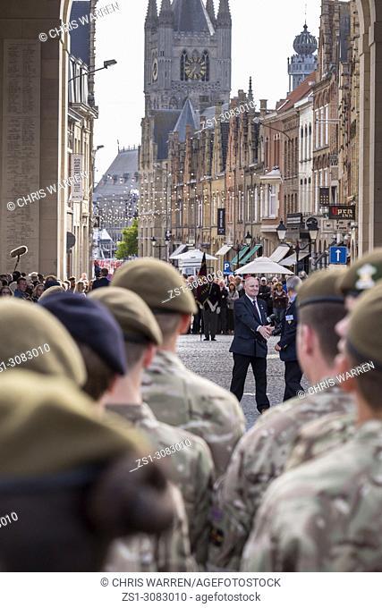 The Last Post Ceremony at Menin Gate World War 1 Memorial Ypres Flanders Belgium