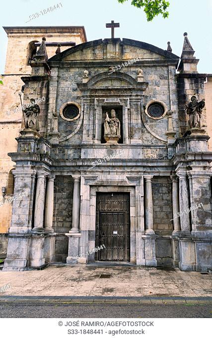 Church in Limpias  Santander  Cantabria  Spain