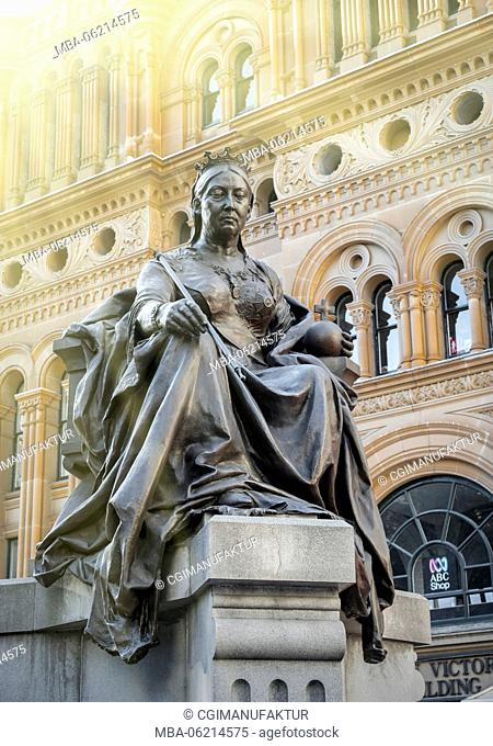 Australia, Sidney, Statue of Queen Victoria, New South Wales, Sydney