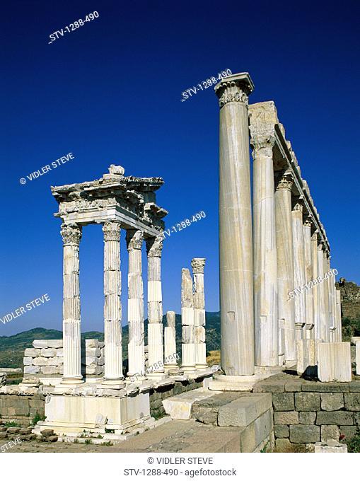 Architecture, Columns, Holiday, Landmark, Middle east, Pergamun, Ruins, Tourism, Travel, Turkey, Vacation