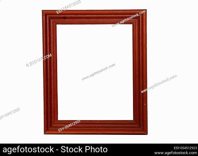 Retro modern frame isolated on white background isolated