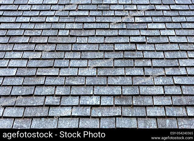 Grey slate roof background image