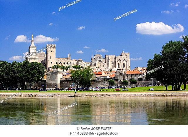 France, Europe, Avignon, Palace of the Popes, UNESCO, World heritage, Rhone River, historic, city