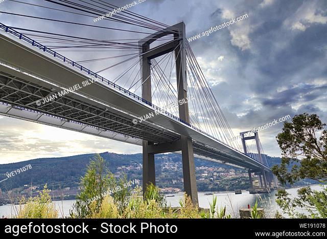 Rande bridge is a cable-stayed bridge linking Vigo to Morrazo peninsula