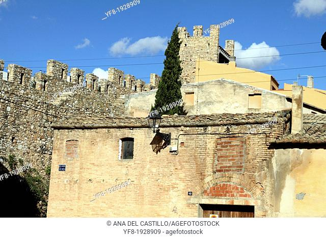 Walls strongholds in Montblanc town Tarragona Spain