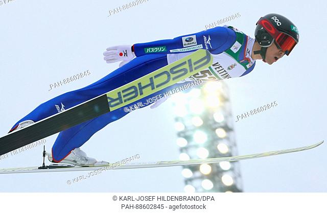 Japanese athlete Akito Watabe competes in the men's 10 kilometre combination event at the Nordic Ski World Championship in Lahti, Finland, 28 February 2017