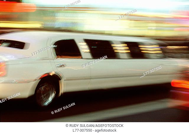 Stretch limo. New York City. USA