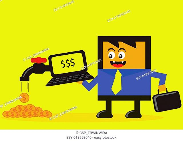 online businessman
