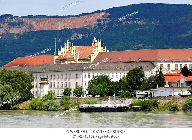 Hungary, Central Hungary, Pest County, Vac, Danube, Danube promenade, jailhouse, jetty, stone quarry