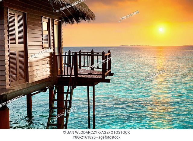 Sunset at Maldives, Ari Atol, Indian Ocean