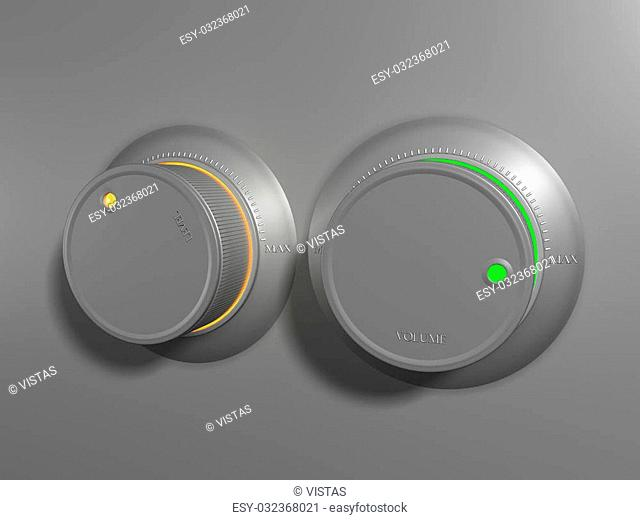 3d scene of volume control and loudness