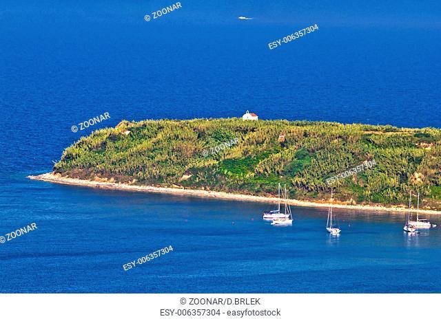 Island of Susak cape church