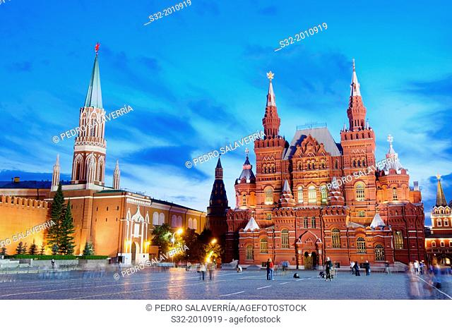 State History Museum in Red Square, Moscow, Russia