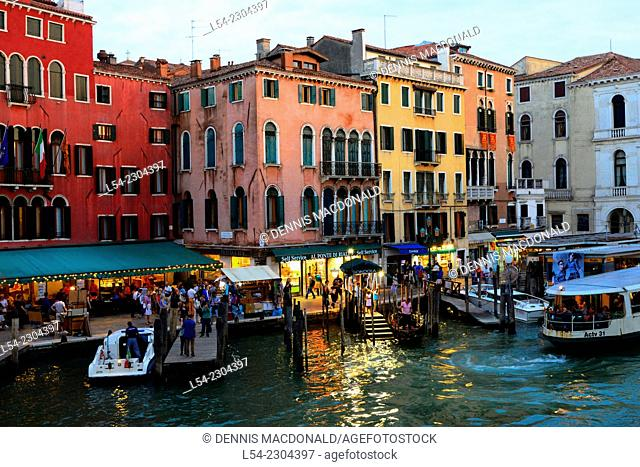 Evening on the Grand Canal Venice Italy IT Europe EU Adriatic Sea