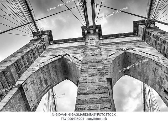 Central Tower of Brooklyn Bridge - NYC