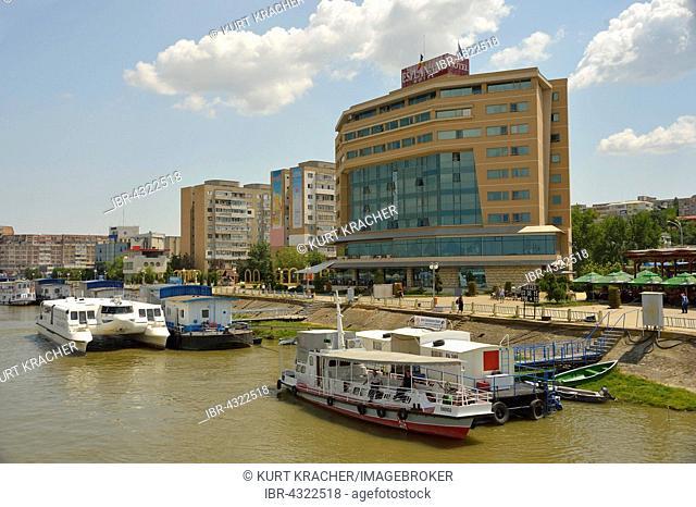 Ships on the Danube, Promenade Hotel, Tulcea County, Romania