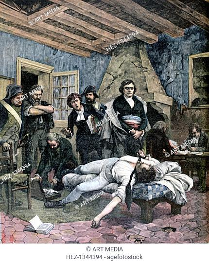 'The Death of Charles Pichegru', 1891. A print from the Le Petit Journal, 4th April 1891