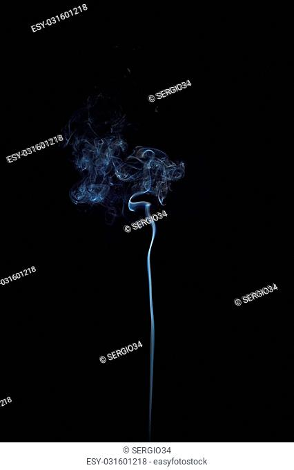 Abstract smoke moves on a black background. Design element. Abstract texture