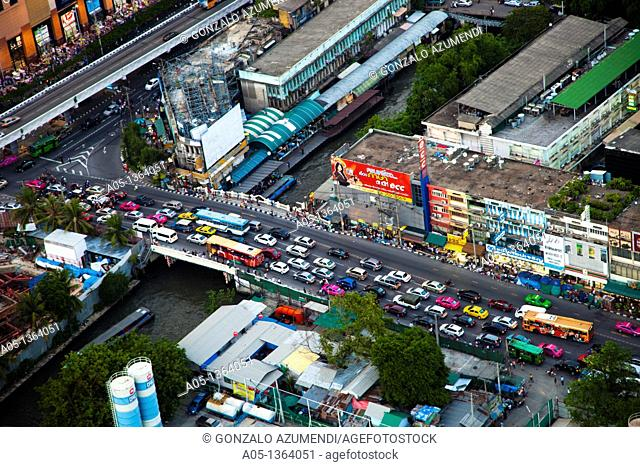 Traffic in Bangkok, Thailand, Southeast Asia