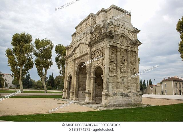 A well-preserved Roman arch in the South of France speaks of town when the Roman Empire stretched across France