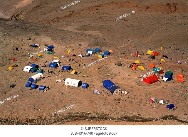 Tent City High in the Andes