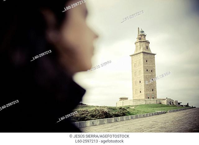 Torre de Hercules, Tower of Hercules, A Coruna, Spain, Europe