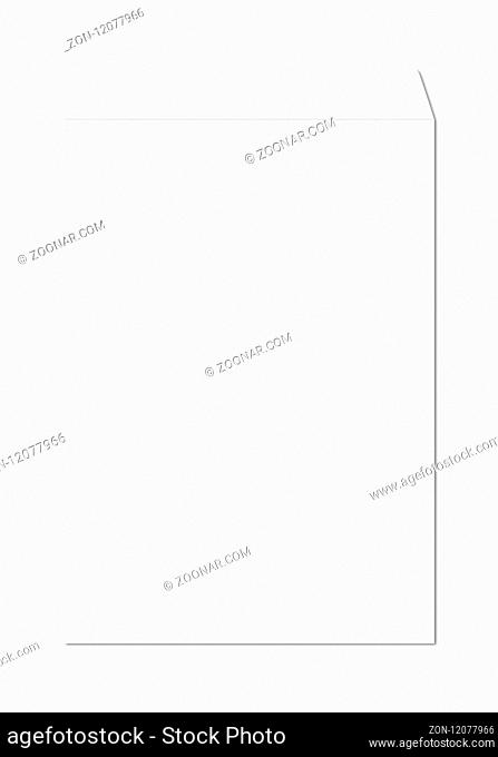 Large A4 enveloppe mockup template isolated on white background