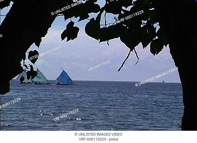 Boats sailing Bali