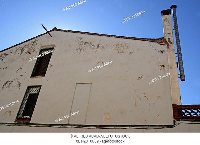 Pipe, housing, Rubi, Catalonia, Spain