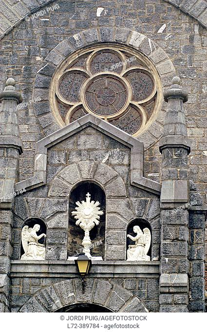 Church. Azkoitia, Guipuzcoa Province, Euskadi (Basque Country). Spain