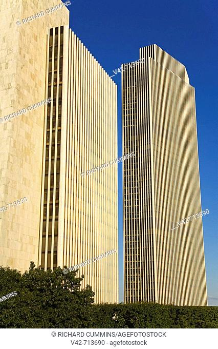 Government Agency Buildings in Empire State Plaza, State Capitol, Albany, New York State, USA