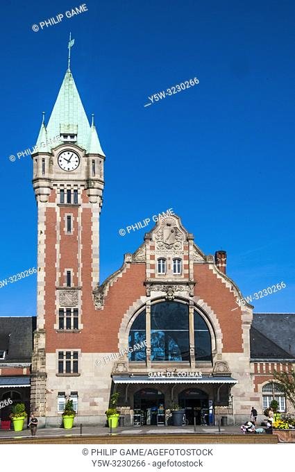 Railway station (1905) at Colmar, Alsace, France