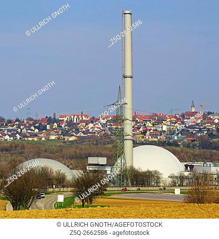 The nuclear power plant of Neckarwestheim near Heilbronn, Germany, which is equipped with two reactors