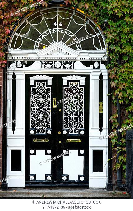 Georgian door, Fitzwilliam Square, Dublin, Ireland