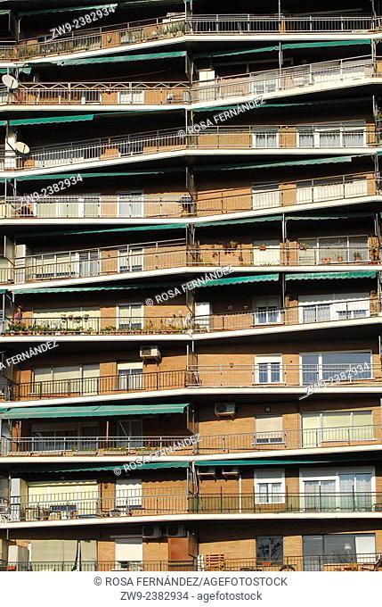 Facade of a building, Madrid