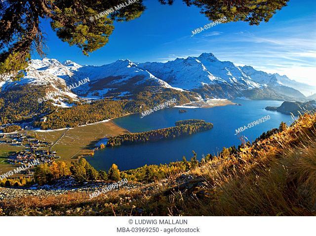 Switzerland, Oberengadin, Silsersee