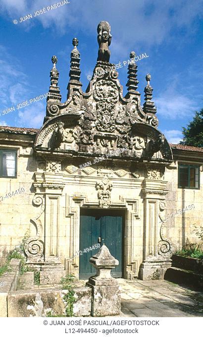 'Pazo' (typical Galician manor house), Barcia de Mera. Pontevedra province, Galicia, Spain
