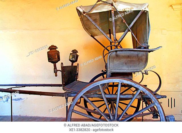 old carriage, Can Papiol Romantic Museum, Vilanova i la Geltrú, Catalonia, Spain